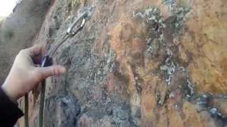 rock climbing in draper utah at red rock on the bonneville shoreline trail
