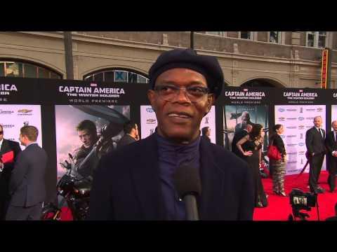 "Captain America: The Winter Soldier: Samuel L. Jackson ""Nick Fury"" Movie Premiere Interview"