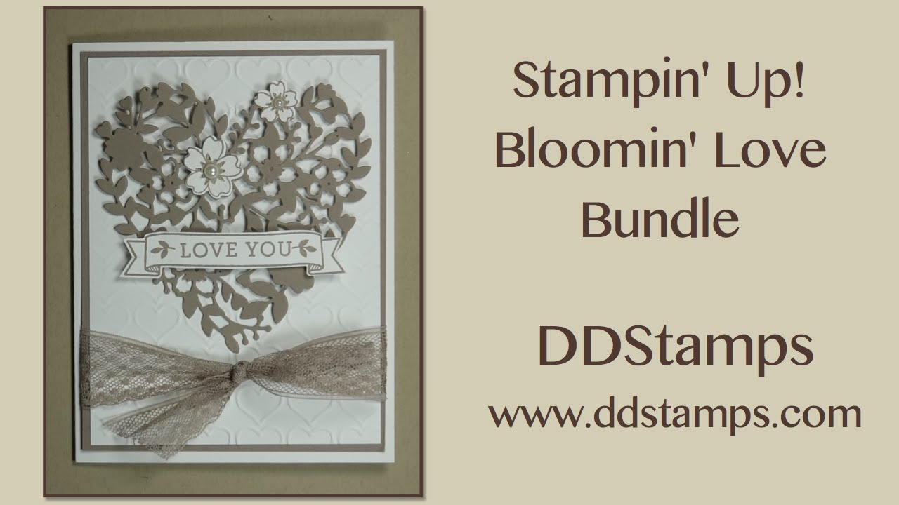 Stampin Up Bloomin Love Handmade Wedding Card  YouTube