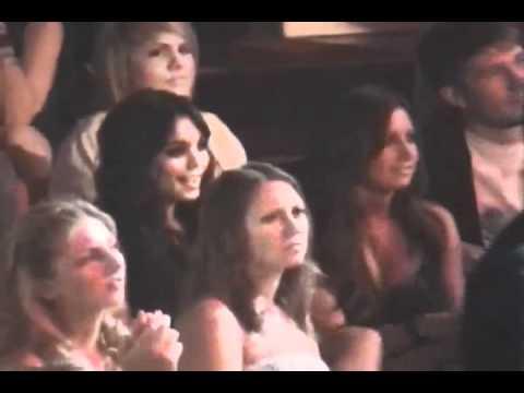 Vanessa Hudgens, Ashley Tisdale, Selena Gomez at performance Miley Cyrus