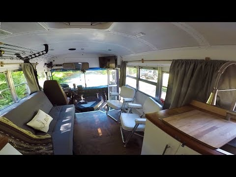 1998 Blue Bird School Bus Conversion For Fishing Enthusiasts