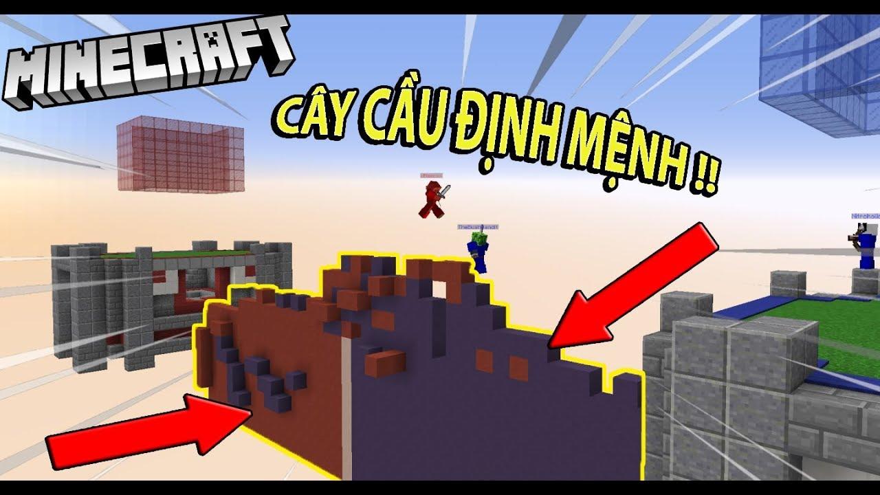 Cùng TEAM QUẦN ĐÙI chơi CÂY CẦU ĐỊNH MỆNH !! trong minecraft - Team quần đùi