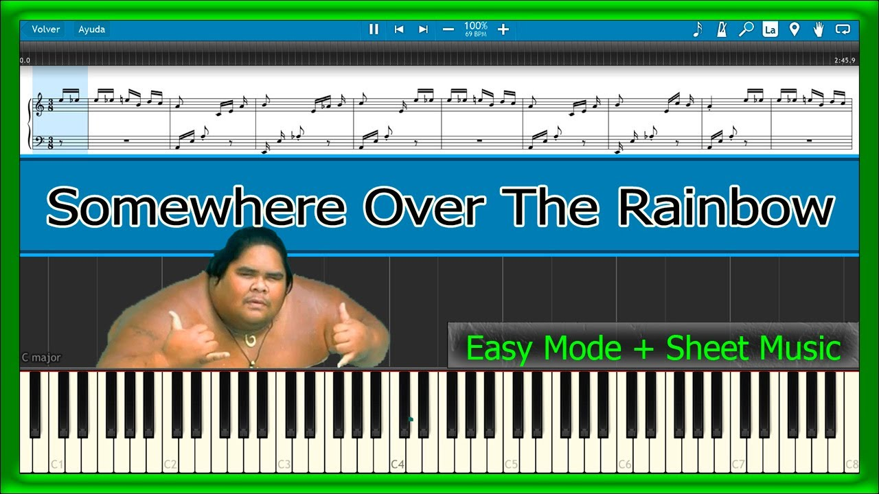 Somewhere over the rainbow israel kamakawiwoole easy mode somewhere over the rainbow israel kamakawiwoole easy mode sheet music piano tutorial hexwebz Gallery