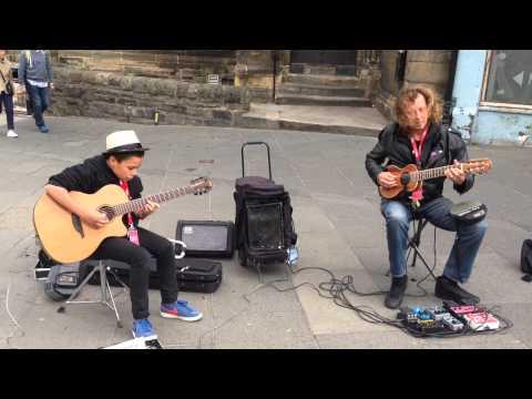 Billy Watman with Amazing Busker Eugenio Martinez - Stairway to Heaven - Edinburgh Fringe 2014 Best mp3 letöltés