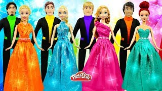 DIY How to Make Play Doh Super Sparkle Dresses for Disney Princess Dolls