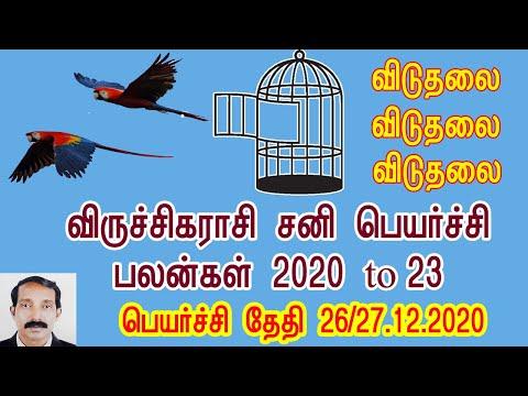 Viruchiga Rasi Sani Peyarchi Palan 2020 To 23 || விருச்சிக ராசி சனி பெயர்ச்சி பலன் 2020 To 23
