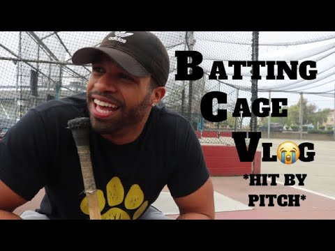 BATTING CAGE VLOG **Hit By Pitching Machine**