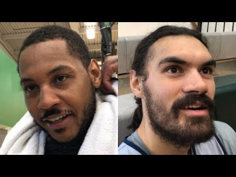 Carmelo Anthony and Steven Adams talk about Melo