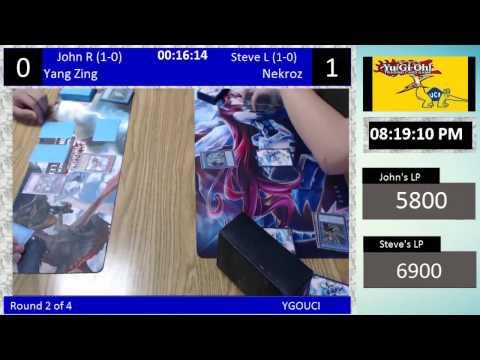 YGOUCI Week 9 Tournament R2 John (Yang Zing) vs. Steve (Nekroz)