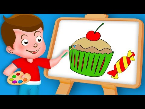 Drawing lollipop, candy, Chocolate, cake, ice cream Paint And Colouring For Kids | Kids Drawing TV