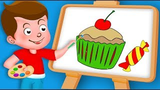 lallipop, candy, Chocolate, cake, ice cream # Paint And Colouring For Kids # Kidz Drawing TV