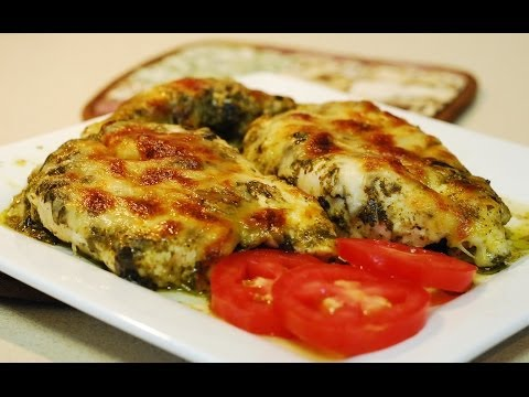 Pesto Chicken Bake ~ Low Carb Recipe