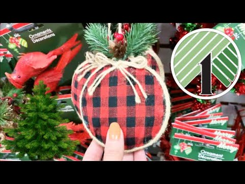DOLLAR TREE SHOPPING!!! *CHRISTMAS ORNAMENTS* NEW FINDS + SO MANY NAME BRANDS!!!