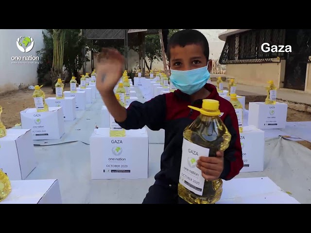 Gaza monthly food parcels distribution