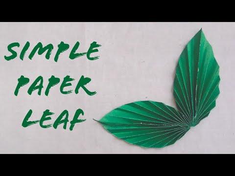 How to make easy & simple paper leaf | DIY Leaf Tutorial | Paper Crafts Ideas | The Best Crafts