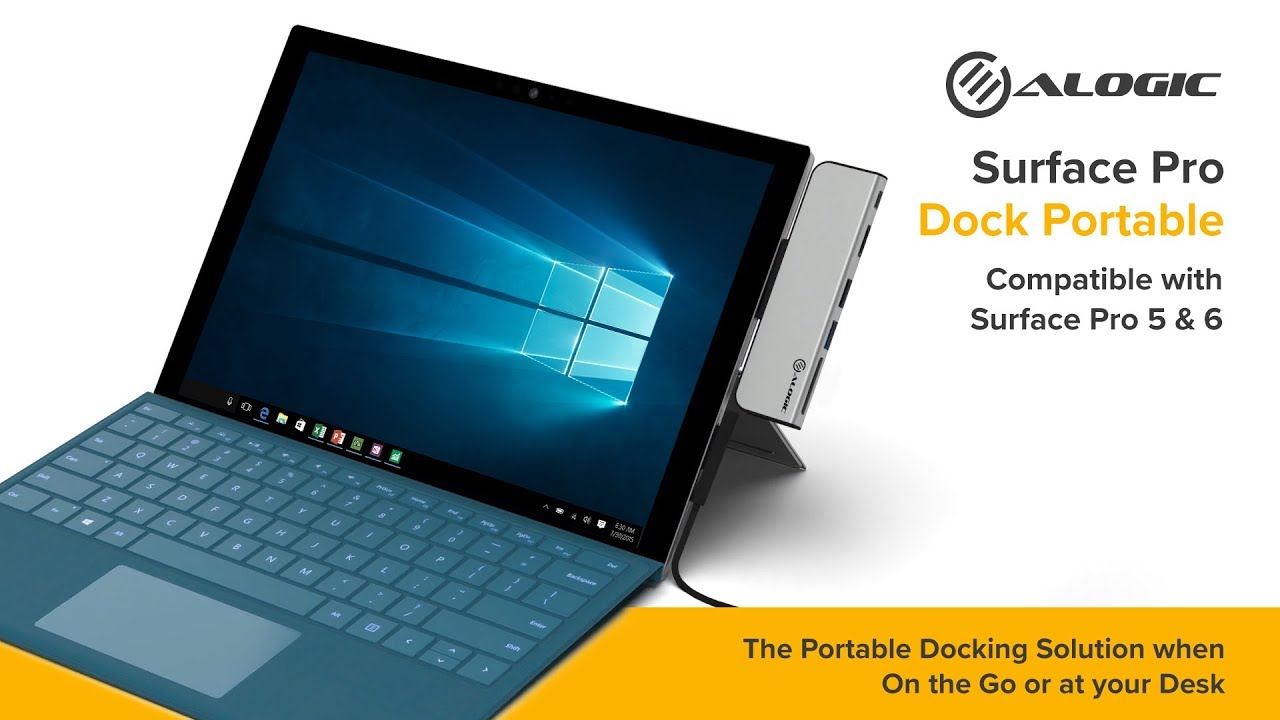 ALOGIC Surface Pro Dock Portable - Ultra Series - Silver