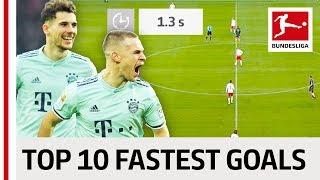 Top 10 Fastest Goals 2018/19 So Far - Sancho, Goretzka & More