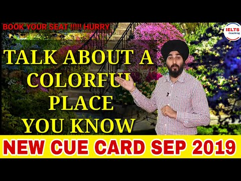 Talk About A Colourful Place You Visit | New Ielts Cue Card | Ramandeep Sir Sample Band 8.0