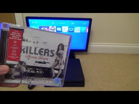 What happens when you put a Music CD in a PS4