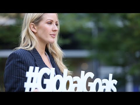 At UN, singer Ellie Goulding stresses need for climate action