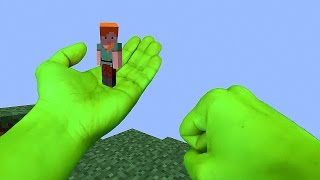 REALISTIC MINECRAFT - ANGRY HULK SAVES ALEX