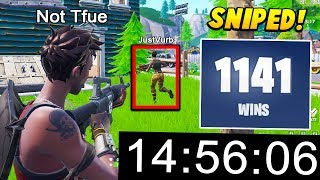 I tested a PRO PLAYER to STREAM SNIPE me within 15 MINUTES.. (Fortnite Battle Royale)