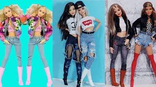 Barbie Kıyafet Yapımı Kot | DIY | Jeans Kendin Yap ~ 5 Dakikada Hallet, Barbie Pantolon Yapımı