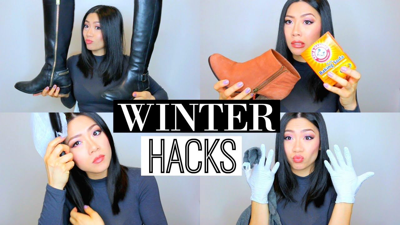 9 Easy Winter Beauty & Life Hacks! - Removing static from hair, DIY boot holder&more!| MISS YANYI
