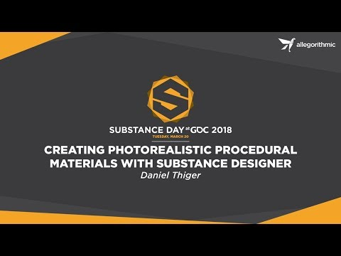 Creating Photorealistic Procedural Materials in Substance Designer With Daniel Thiger