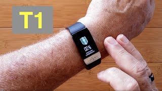 BAKEEY T1 Thermometer, ECG, Blood Pressure, Blood Oxygen Fitness/Health Band