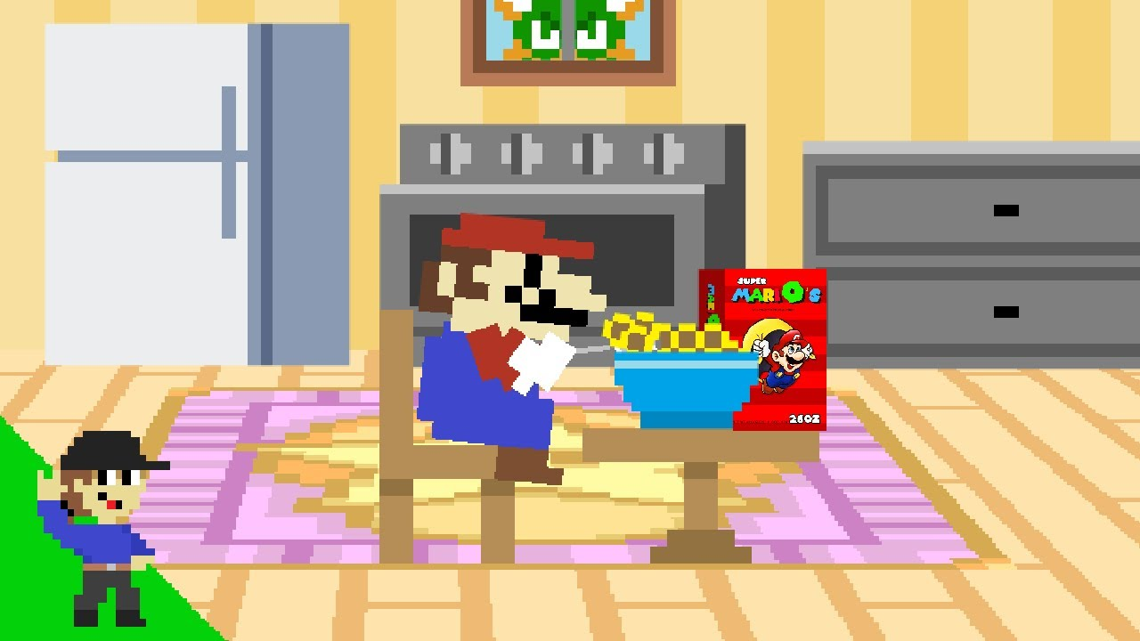 Level UP: Mario ate a bowl of Cereal and then this happened