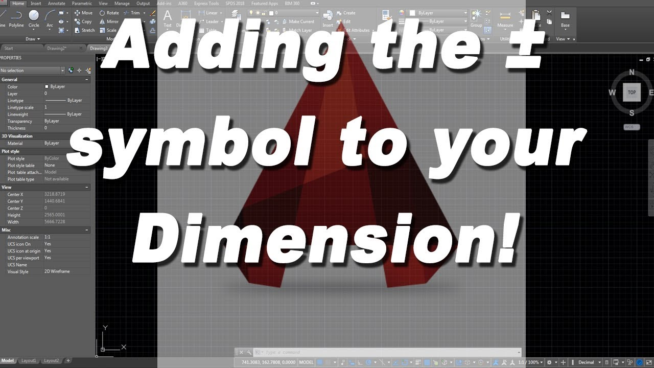 How to add the plus minus symbol to your dimension in autocad how to add the plus minus symbol to your dimension in autocad biocorpaavc