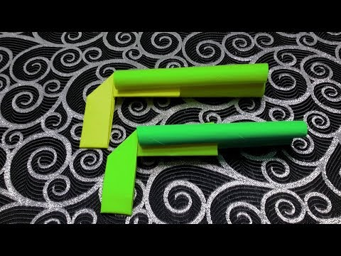 Paper gun pistol no tape for kids - how to make paper weapons step by step