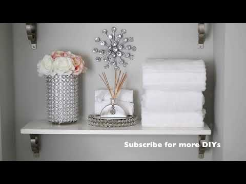 BATHROOM DECORATING IDEAS|small decorative towel folding