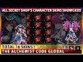 All Secret Shop's 16 Character Skins Showcase! (The Alchemist Code)