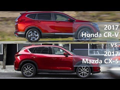 2017 Honda CR-V vs. 2017 Mazda CX-5 (technical comparison)