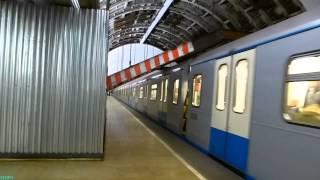 New Metro Train Oka in Moscow 18.01.2014