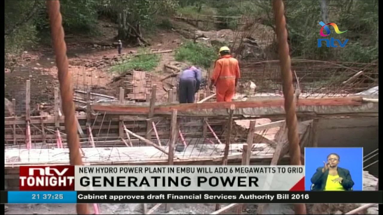 New hydro power plant in Embu will add 6 megawatts to grid