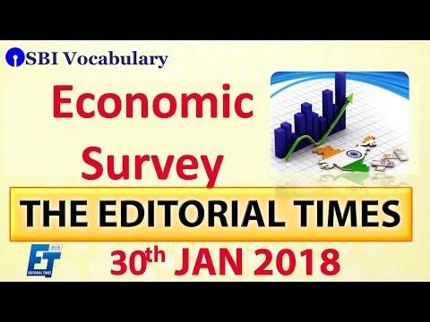 Economic Survey   The Hindu   The Editorial Times   30th Jan 2018   Newspaper   UPSC   SSC   Bank