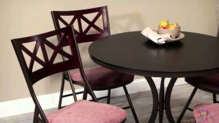 Innobella Destinay 38 In. Round Folding Table With 4 X Back Folding Chairs - Product Review Video
