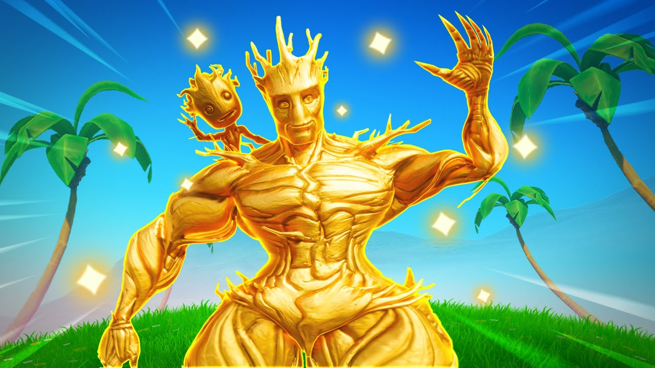 THICCEST GOLD TREE IN FORTNITE