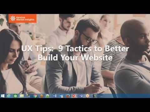 UX Tips: 9 Tactics Better Build Your Website