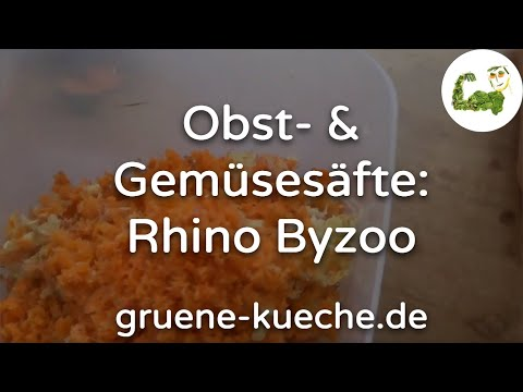 Rhino Byzoo Slow Juicer - klassische Säfte zubereiten (Teil 3/5)