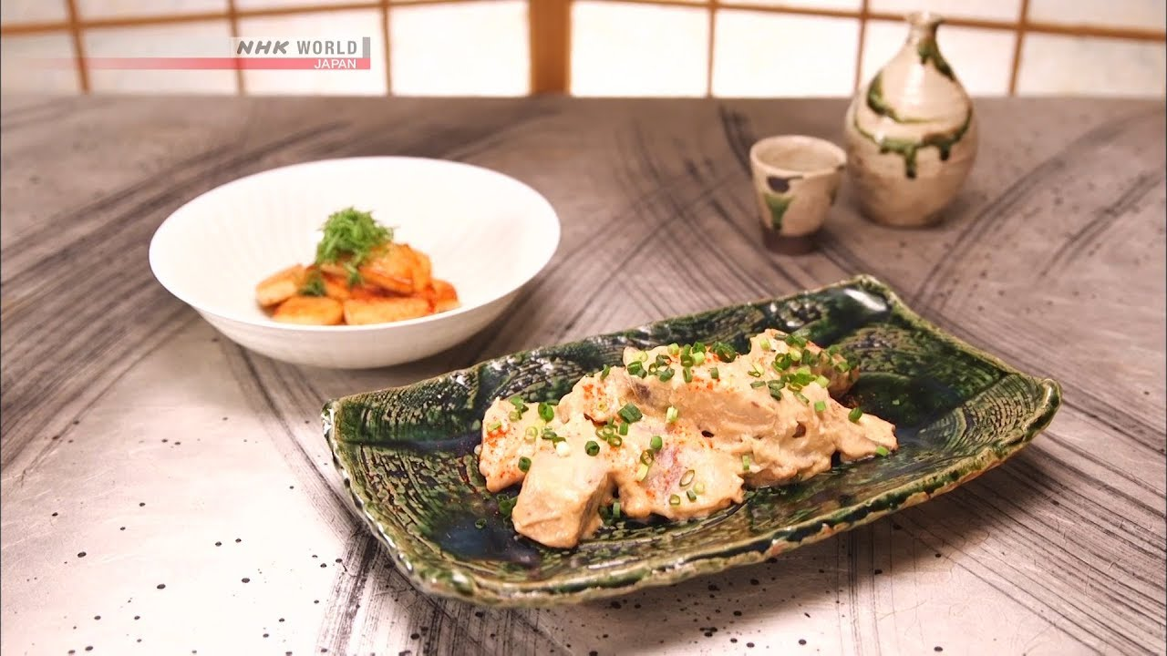Photo of Chef Saito's Simmered yellowtail with sake lees (Kasu-ni) [Japanese Cooking] – Dining with the Chef – video