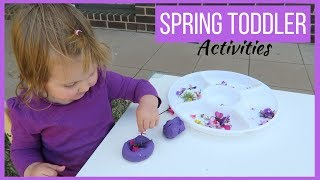 MESSY PLAY WITH FLOWERS | DIY SENSORY TODDLER ACTIVITIES