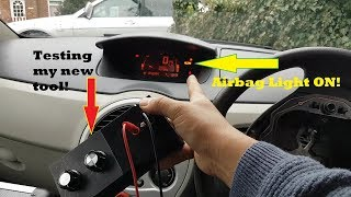Renault Modus Airbag light randomly ON. Testing my new tool!