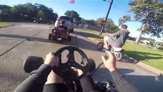 Drove the Go Kart and Drift Trike to School