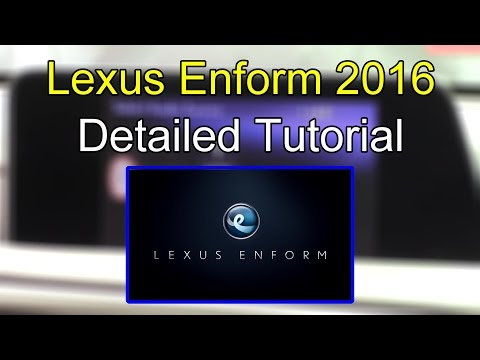 Lexus Enform System 2016 Detailed Tutorial: Tech Help