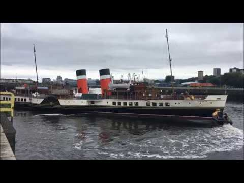 Paddle Steamer Waverley Departing Glasgow, 13th August 2018.