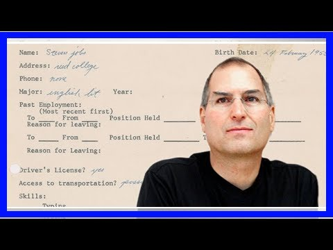 Read a job application from Steve Jobs from 3 years before he cofounded Apple